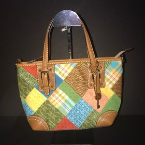 Fossil Patchwork Shoulder Bag with Wallet